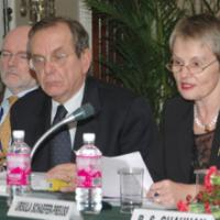 A Joint Press Conference on International Tax Conference, by Shri K. Mohandas, Addl. Secretary, Department of Revenue and Ms. Ursula Schaefer-Preuss, Vice President (Knowledge Management & Sustainable Development), ADB and Mr. Pier Carlo Padoan, Deputy Secretary General, OECD, in New Delhi on July 03, 2007