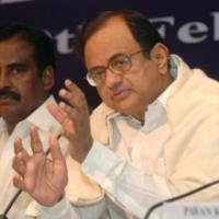 The Union Finance Minister, Shri P. Chidambaram addressing a Post-Budget Press Conference, in New Delhi on February 29, 2008.  The Minister of State (Revenue), Shri. S.S. Palanimanickam is also seen