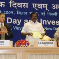 The Minister of State (Revenue), Shri. S.S. Palanimanickam releasing a book titled 'International Customs Day 2009, year of the environment', at the Investiture Ceremony for conferring Presidential Awards and Appreciation Certificates for specially distinguished record of service to the officers of Indian Customs and Central Excise Services, in New Delhi on January 27, 2009