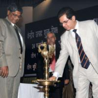 The Chairman, Central Board of Excise and Customs, Shri P.C. Jha lighting the lamp to inaugurate the Central Excise Day, in New Delhi on February 24, 2009