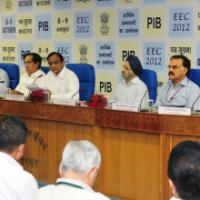 The Union Finance Minister, Shri P. Chidambaram delivering the inaugural address at the Economic Editors' Conference-2012, in New Delhi on October 08, 2012. The Minister of State for Finance, Shri Namo Narain Meena, the Finance and Expenditure Secretary, Shri R.S. Gujral, the Secretary, Economic Affairs, Dr. Arvind Mayaram, the Secretary, Revenue, Shri Sumit Bose, the Principal Director General (M&C), Press Information Bureau, Smt. Neelam Kapur and other dignitaries are also seen