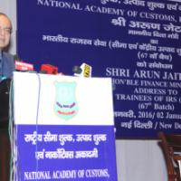 The Union Minister for Finance, Corporate Affairs and Information & Broadcasting, Shri Arun Jaitley addressing the Officer Trainees of the Indian Revenue Service (Customs & C. Excise) of the 67th Batch, in New Delhi on January 02, 2016