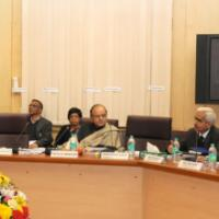 The Union Minister for Finance, Corporate Affairs and Information & Broadcasting, Shri Arun Jaitley holding the pre-Budget Consultation Meeting with the representatives of Industry and Trade Groups, in New Delhi on January 06, 2016. The Secretary, Department of Economic Affairs, Ministry of Finance, Shri Shaktikanta Das, the Secretary, Revenue, Dr. Hasmukh Adhia, the Secretary, Department of Industrial Policy and Promotion (DIPP), Shri Amitabh Kant and the Chief Economic Adviser (CEA), Dr. Arvind Subramania