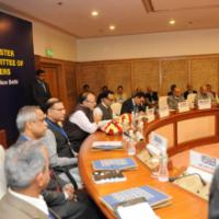 The Union Minister for Finance, Corporate Affairs and Information & Broadcasting, Shri Arun Jaitley addressing a meeting of the Empowered Committee of State Finance Ministers, in New Delhi on February 19, 2016. The Minister of State for Finance, Shri Jayant Sinha, the Secretary, Revenue, Dr. Hasmukh Adhia and other dignitaries are also seen