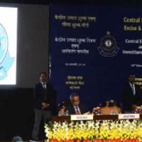The Minister of State for Finance, Shri Jayant Sinha addressing at the Investiture Ceremony 2016 and Annual Central Excise Custom Day function, organised by the Central Board of Excise and Customs (CBEC), in New Delhi on February 24, 2016. The Union Minister for Finance, Corporate Affairs and Information & Broadcasting, Shri Arun Jaitley and the Secretary, Revenue, Dr. Hasmukh Adhia are also seen