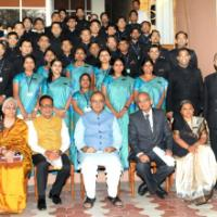 The Union Minister for Finance, Corporate Affairs and Information & Broadcasting, Shri Arun Jaitley with the officer trainees of 69th batch of the Indian Revenue Service, in New Delhi on March 10, 2016. The Secretary, Revenue, Dr. Hasmukh Adhia is also seen