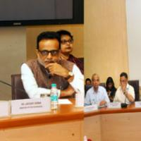 The Union Minister for Finance, Corporate Affairs and Information & Broadcasting, Shri Arun Jaitley holding a meeting with the various Chambers of Commerce & Association of Professionals regarding Income Declaration Scheme, 2016, in New Delhi on June 28, 2016. The Minister of State for Finance, Shri Jayant Sinha and the Revenue Secretary, Dr. Hasmukh Adhia are also seen