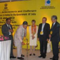 The Secretary (Revenue), Shri P.V. Bhide lighting the lamp at the inauguration of the first International Tax Conference, in New Delhi on July 02, 2007